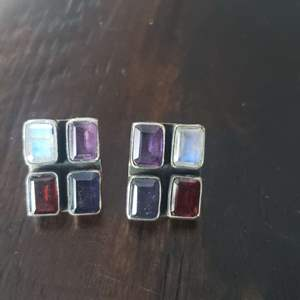 Lot # 255 Sterling Silver Multi Stone Earrings