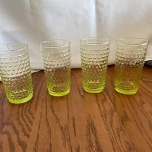 Lot # 271 Beautiful Yellow Bubble Glasses