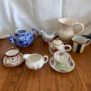 Lot # 273 Pretty Teapots, Teacup Sets and More