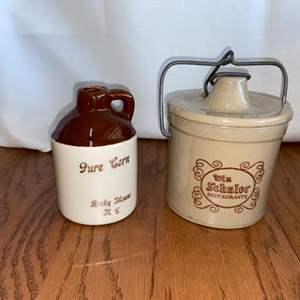 Lot # 279 Butter Crock & Vintage Stoneware