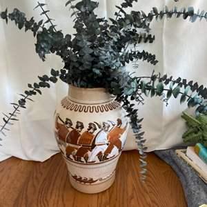 Lot # 281 Large Floor Vase w/ Eucalyptus Leaves