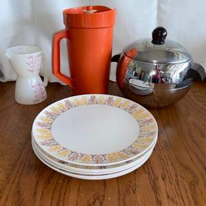 Lot # 297 Tupperware Pitcher, Plates & More