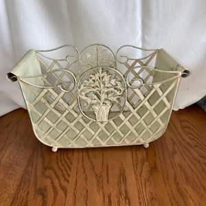 Lot # 306 Beautiful Metal Basket