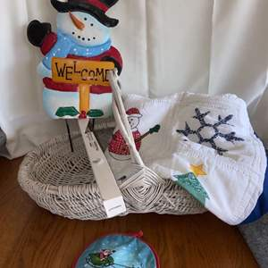 Lot # 308 Holiday Quilt, Snowman & More