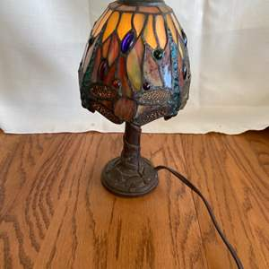 Lot # 324 Beautiful Stained Glass Table Lamp