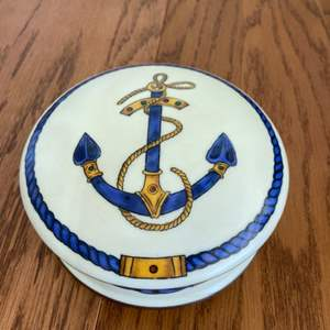 Lot # 327 WOW!! Very Rare Limoges Anchor Trinket Box