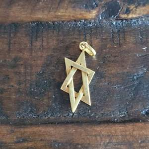 Lot # 361 14k Gold Star of David Charm - TW is 2.20g
