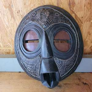 Lot # 19 Tribal Mask Wall Plaque