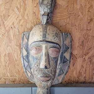 """Lot # 21 Tribal Mask Wall Plaque 20"""""""