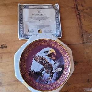 Lot # 38 Royal Doulton Freedom's Glory Collector's Plate w/ COA