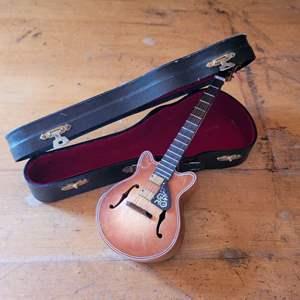 Lot # 43 Miniature Musical Guitar in Case