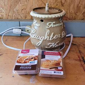 Lot # 48 Electric Wax Melter w/ Wax Cubes