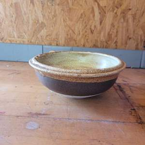 """Lot # 53 Pretty Pottery Bowl 8"""" - Marked"""