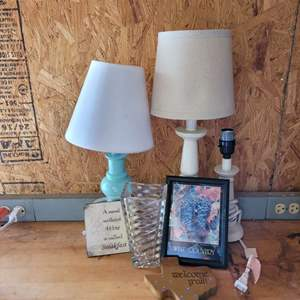 Lot # 61 Table Lamps and Assorted Home Decor