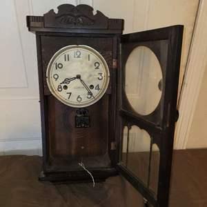 Lot # 100 WOW!  Antique 1800's Thomas Coxon Clock