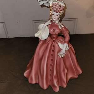 Lot # 101 Pretty Florence Ceramics Victorian Figurine in Nice Condition