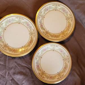 """Lot # 115 Beautiful Set of 3 Lenox CASTLE GARDEN Bread & Butter Plates 6 3/8"""""""