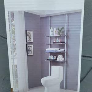 Lot # 126 Brand New in Box - Adjustable 4 Tier Over Toilet Shelf