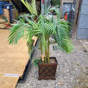 Lot # 149 Beautiful Faux Palm Tree in Planter