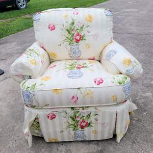 Lot # 150 Pretty Clayton Marcus Upholstered Arm Chair in Nice Condition