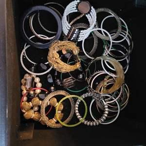 Lot # 155 Wonderful Assortment of Costume Jewelry Bracelets