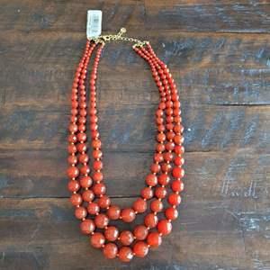 Lot # 161 Pretty Triple Strand Glass Bead Necklace