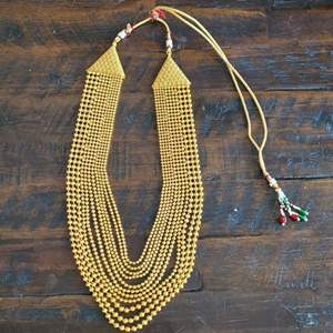 Lot # 163 Gorgeous Gold Toned Multi Strand Choker Necklace