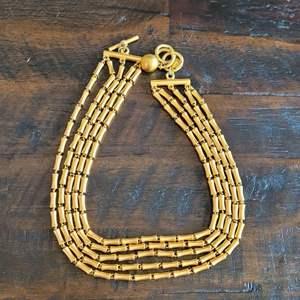 Lot # 169 Wonderful Vintage Anne Klein!  5 Strand Gold Toned Choker Necklace