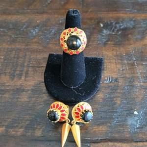 Lot # 170 Pretty Amrapali Costume Jewelry Set