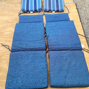 Lot # 179 Allen & Roth Chair Pads (2) and Set of 2 Cushions for High Back Patio Chairs