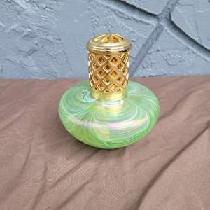 Lot # 182 Pretty Blown Glass Perfume Atominizer