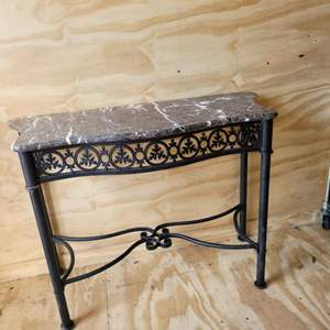 Lot # 187 Metal Table w/ Marble Top