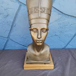 Lot # 197 Vintage 1961 Austin Sculpture of Nefertiti Wooden Base - Signed