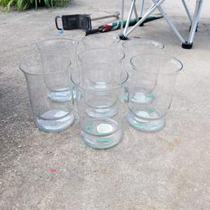 """Lot # 229 Set of 7 Large Candle Holders 8"""""""