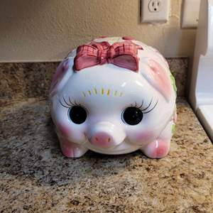 Lot # 263 Cute Ceramic Piggy Bank