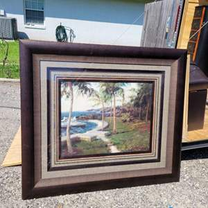 Lot # 273 Waters Edge Painting- Framed & Matted