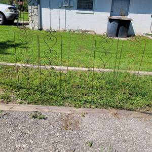 Lot # 285 (5) Metal Yard Decor