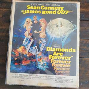 "Lot # 299 James Bond Theatre Poster 14"" x 17"" - Diamonds are Forever"