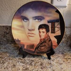 Lot # 325 Elvis Presley Heartbreak Hotel Collector's Plate