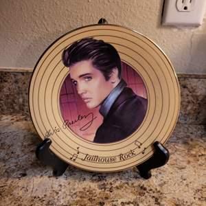 Lot # 326 Elvis Presley Jailhouse Rock Collector's Plate