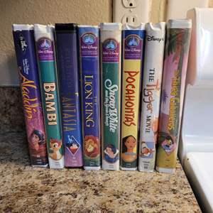 Lot # 334 Assortment of Disney VHS Tapes