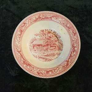 """Lot # 368 Royal MEMORY LANE Rimmed Soup Bowl 8 3/8"""""""