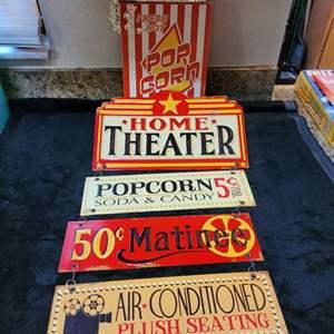 Lot # 379 (2) Metal Popcorn Signs