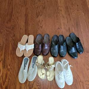 Lot # 396 Assortment of Ladies Shoes and Sandals - Size 7/8