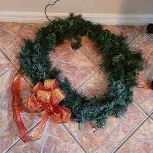 Lot # 404 Large Christmas Wreath