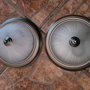 Lot # 411 Nice Pair of Ceiling Light Fixtures in Great Condition
