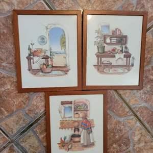Lot # 413 Nice Trio of Carol Jean Framed Prints