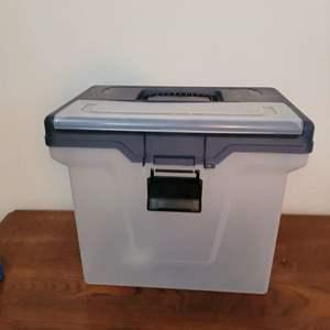 Lot # 419 Plastic File Storage Box