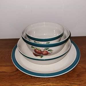 Lot # 422 China Pearl APPLES Serving Bowls & Platter