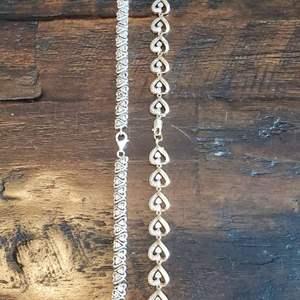 Lot # 427 (2) Silver Bracelets - Both need Repair